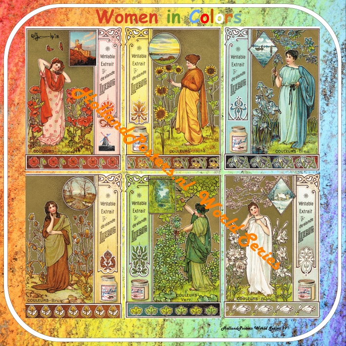 Women in Colors 2  HP WS 19 , pictures are from the year 1900