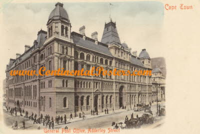 General Post Office Cape Town South Africa cp