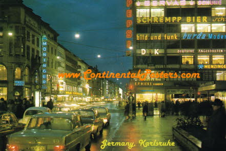 Karlsruhe Germany by night CA 59