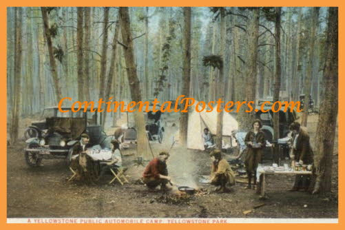 Yellowstone National Park, public automobile camp CA 18 cp