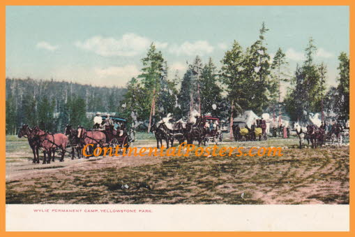 Yellowstone National Park , Permanent Camp CA 17 cp