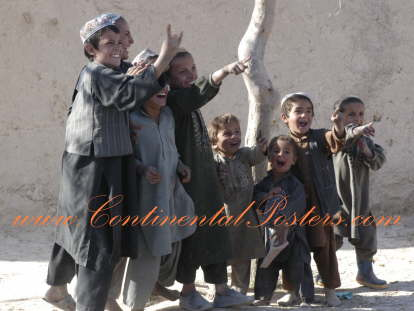 Afghan children poster / Afghan hope for the future